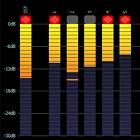 multiband radio sound processing, audio level meters