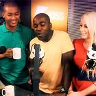 Rickie Melvin & Charlie in the Morning, KISS FM UK, radio studio