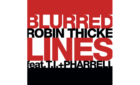 Robin Thicke, Blurred Lines, single cover