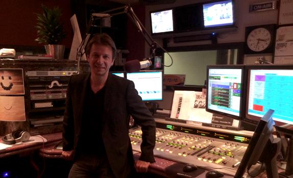 Sam Zniber, control room, radio studio, MAGIC 102.7 Miami
