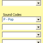RCS, Selector, music scheduling software, song card, sound codes