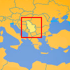 Serbia on the map of Europe
