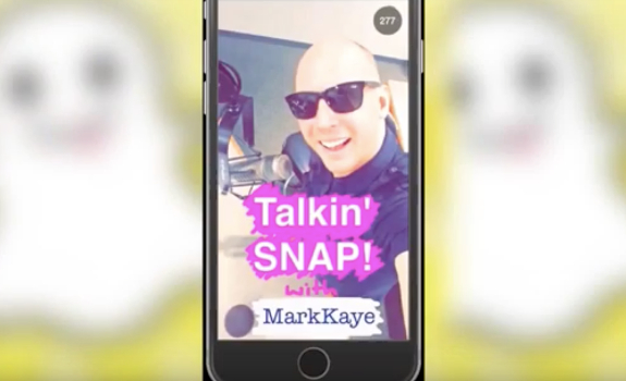 Mark Kaye is focusing on Snapchat functionalities that serve him as a radio personality (image: YouTube / Mark Kaye)