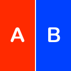 A & B, split test, two groups