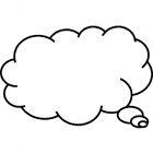 think cloud, thought cloud, text balloon