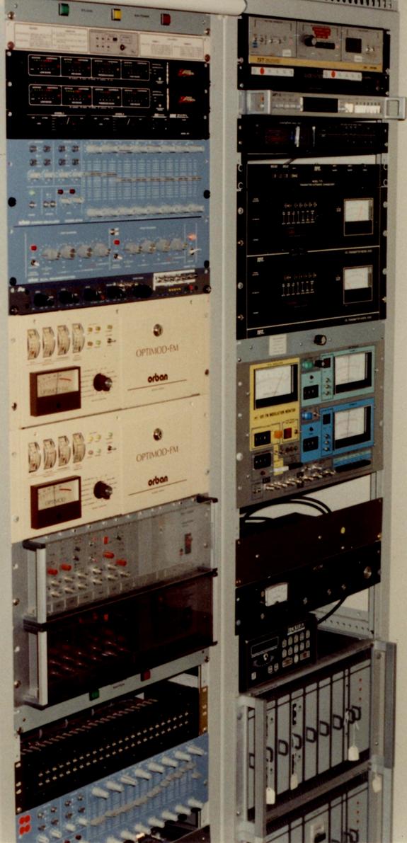 Z100, audio processing chain, Texar Audio Prizm, Orban Optimod 8100